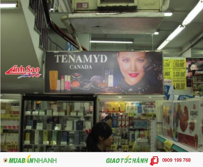 Thiết kế hộp đèn quảng cáo mica của Công ty Ánh Sao Trẻ cho một shop mỹ phẩm.