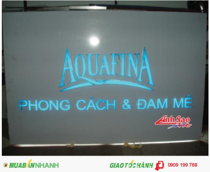 Ánh Sao trẻ nhận thiết kế và lắp đặt bảng hiệu đèn led cho AQUAFINA, kích thước và thiết kế dựa trên yêu cầu của khách hàng., 3