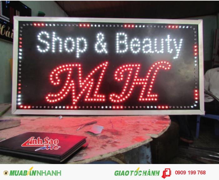 Ánh Sao trẻ nhận thiết kế và lắp đặt bảng hiệu đèn led cho Shop & Beauty MH, kích thước và thiết kế dựa trên yêu cầu của khách hàng., 4