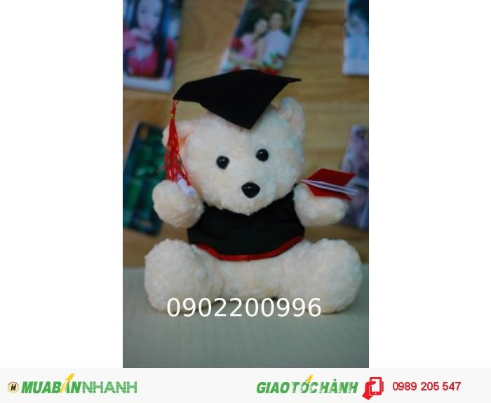 gấu tốt nghiệp đeo kính giá rẻ in logo1