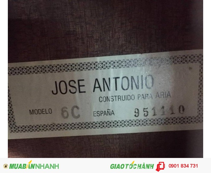 Guitar Jose Antonio ( Espana) Tây Ban Nha Giá Cực Shock