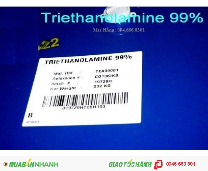 Triethanolamine, C6H15O3N, Trietanol amin,1