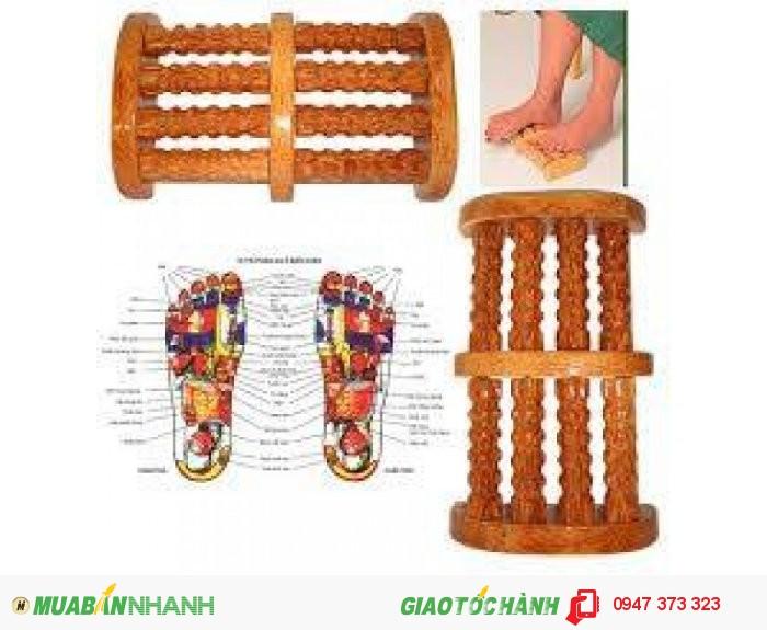 Bàn Lăn Massage Chân Bằng Gỗ Dừa