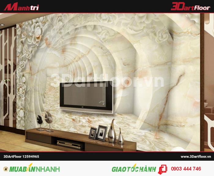 Gạch 3D Mạnh Trí ốp tường TV