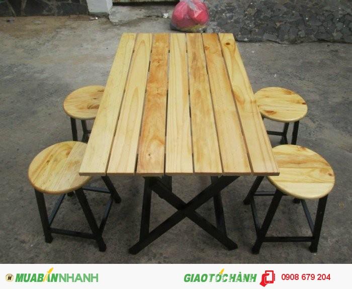 Bàn ghế gỗ giá rê nhât3