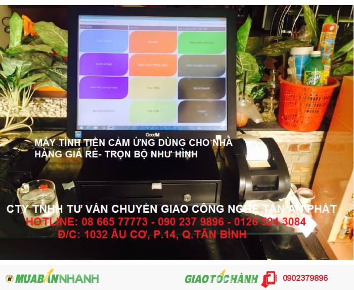 Máy bán hàng cảm ứng RẺ dùng cho QUÁN NHẬU bán tại BẮC CẠN0