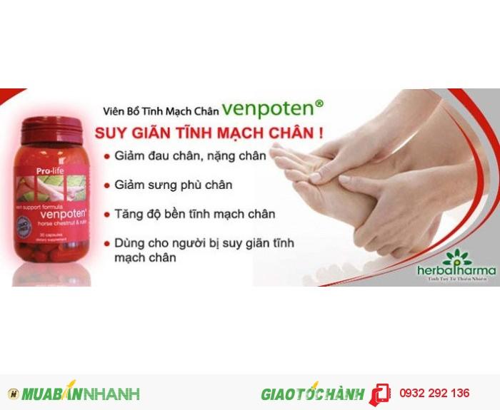 Venpoten hỗ trợ điều trị giãn tĩnh mạch chi0