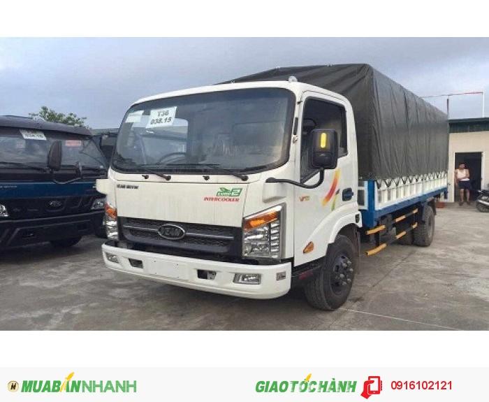 Xe tải Veam VT340s mui bạt 3T5 thùng dài 6,2 m, đọng cơ Hyundai D4BH 103 Ps