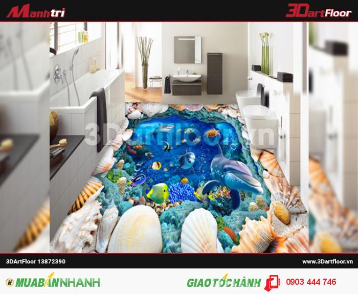 Phòng ăn sang trọng hơn với gạch 3D