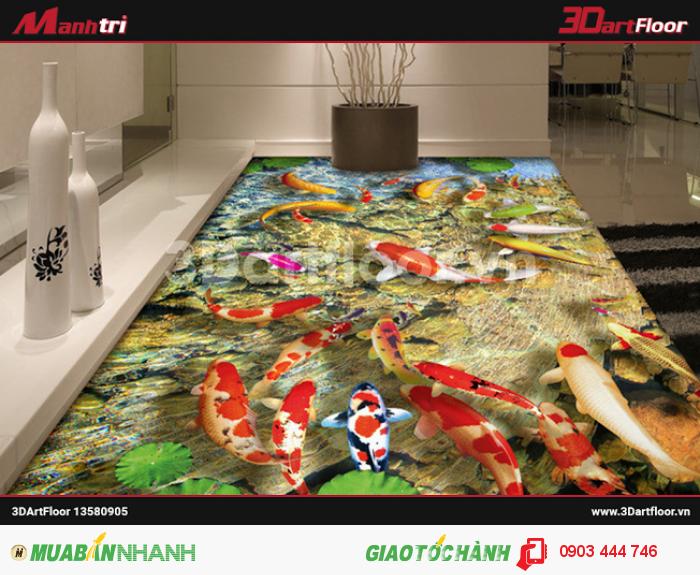 Gạch 3D đại dương lát sàn phòng tắm