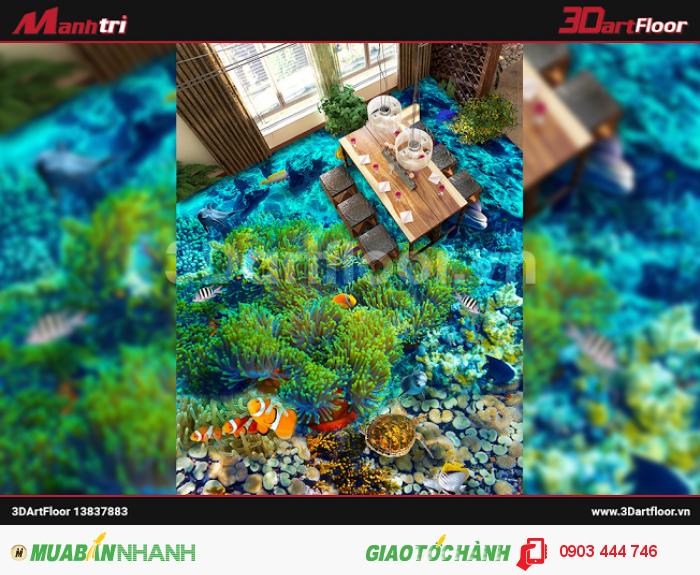 Một sản phẩm khác trong dòng gạch 3D chủ để Đại dương. Mang cả không gian xan...