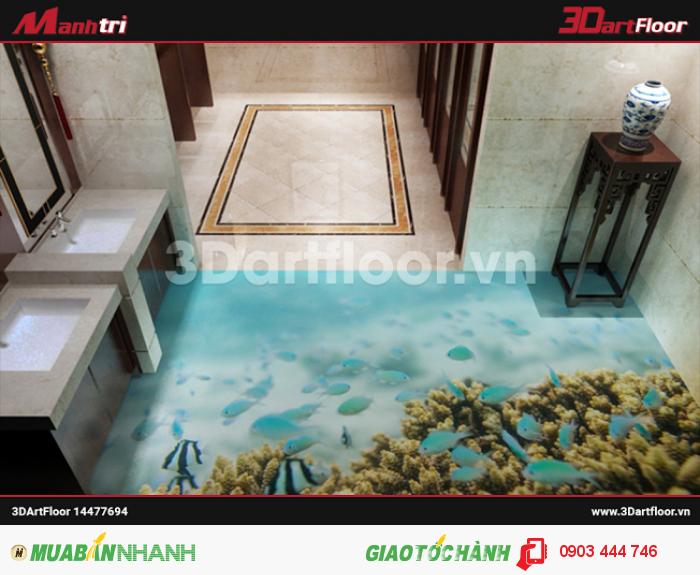 Gạch 3D chủ đề đại dương và san hô