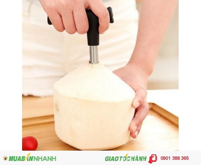 Được Uống nước dừa ngay tức thì khi sử dụng dụng cụ khui dừa siêu nhanh-MSN388009