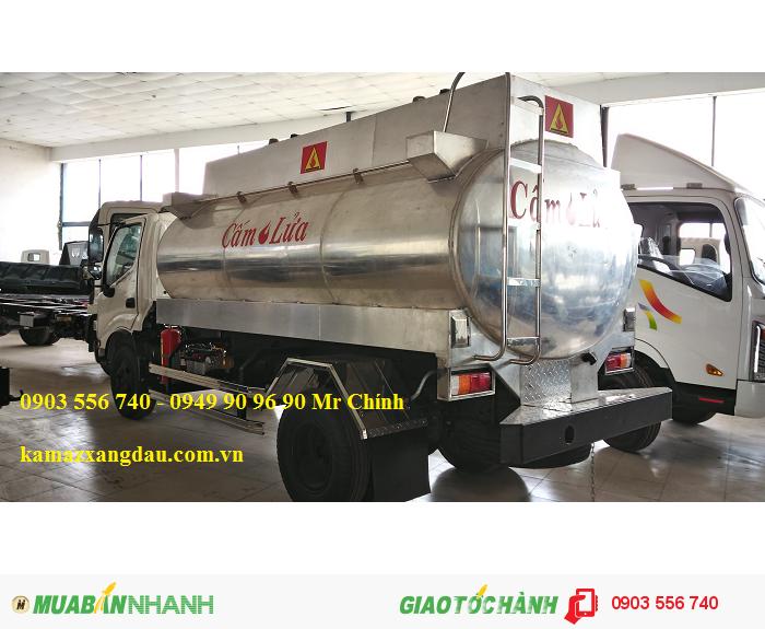 Xe bồn Hino chở xăng 7m3
