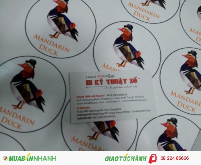 Tem decal trong dán nhãn cho các thương hiệu sản phẩm, dịch vụ - đặt in tem decal...