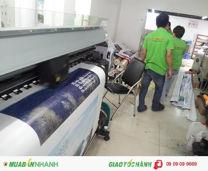 In Kỹ Thuật Số trực tiếp thực hiện in tranh canvas mực dầu trên máy Mimaki Nhậ...