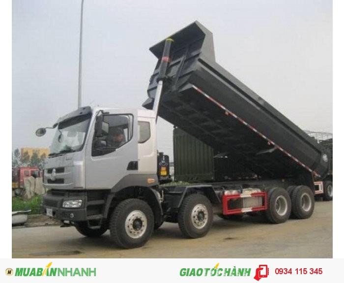 Xe ben chenglong 4 chân( 310HP)- Xe tải ben chenglong hải âu 17.5T( 4 chân 4 giò) 2 cầu máy 310HP