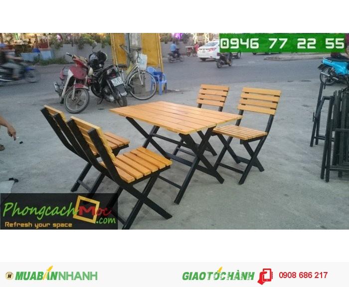 Bàn ghế gỗ quán ăn quán nhậu giá rẻ1