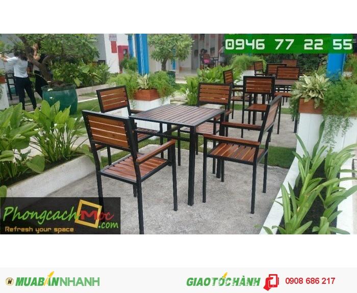 Bàn ghế gỗ quán ăn quán nhậu giá rẻ2