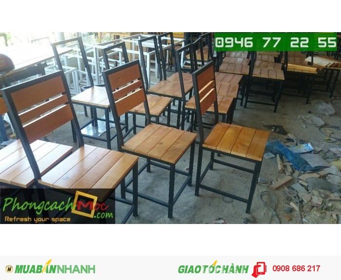 Bàn ghế gỗ quán ăn quán nhậu giá rẻ3