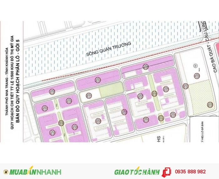 Bán nền KĐT Thái Hưng Mỹ Gia Nha Trang đất trung tâm, giá chỉ từ 6tr/m2 view sông Quáng Trường