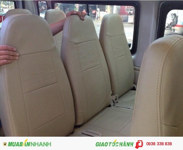 Độ ghế xếp, bọc ghế da xe Ford Transit 1