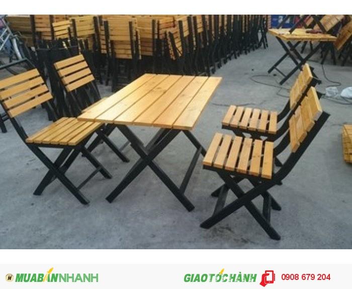 Bàn ghế gỗ quán nhậu0