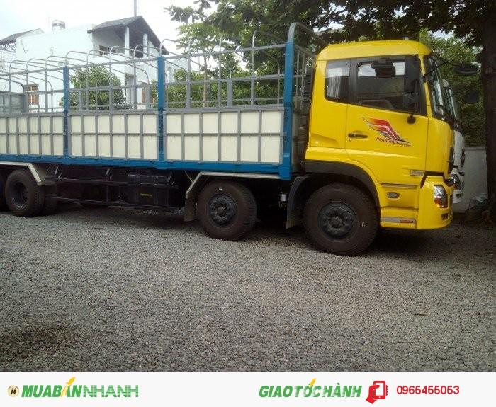 Xe tải 4 chân dongfeng L315 nhập khẩu nguyên chiếc bởi Hoàng Huy