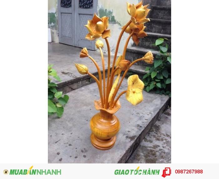 Bình hoa sen gỗ-hàng đẹp-Giá siêu rẻ-bao ship toàn quốc2