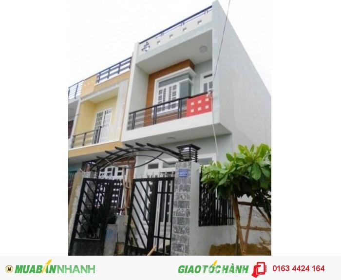 Nhà mới hóc môn 1 trệt 1 lầu có sổ hồng riêng 4x12