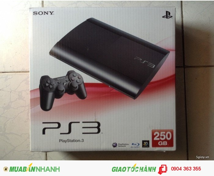 May game ps3 supper slim 250gb fullbox tang game goc pes 2013 gia 2t5