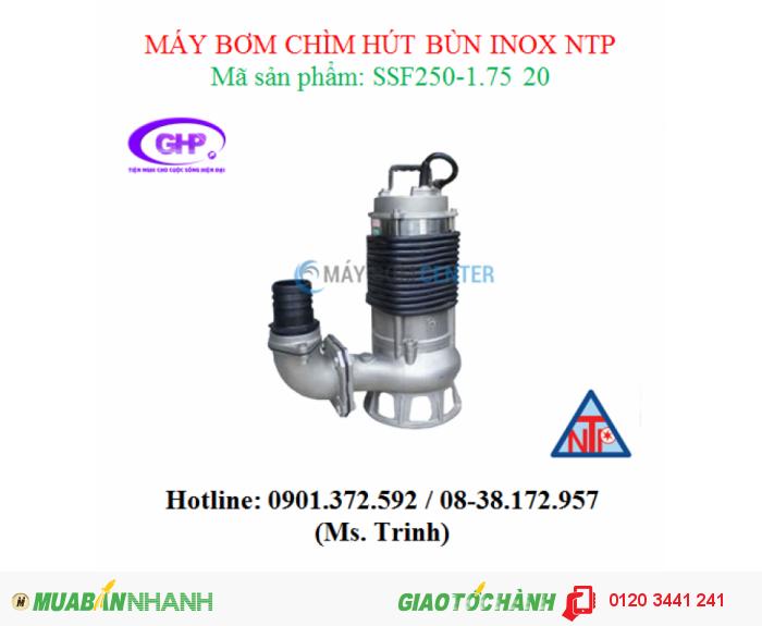 Máy bơm chìm hút bùn inox NTP SSF250-1.75 20 (1HP)
