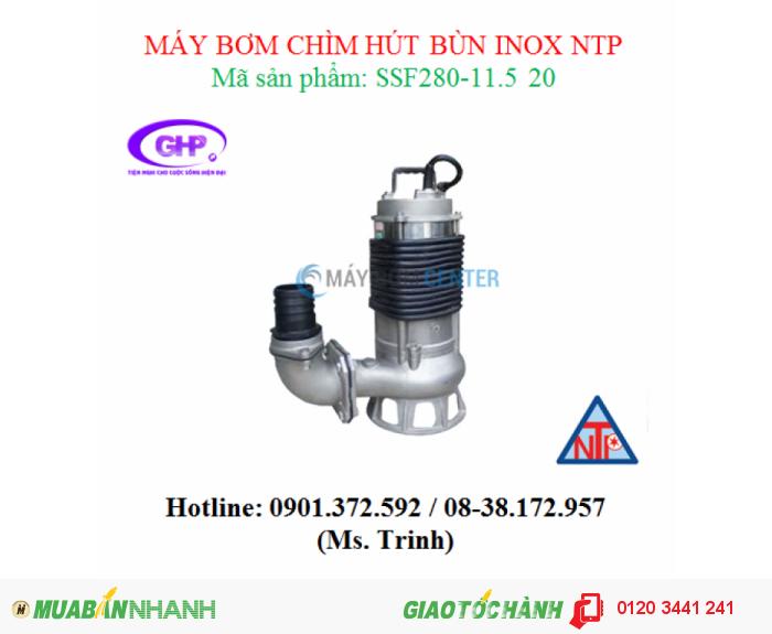 Máy bơm chìm hút bùn inox NTP SSF280-11.5 20 (2HP)