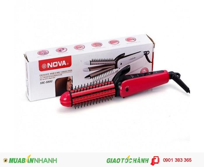 Sở hữu những kiểu tóc đẹp luôn làm các bạn gái thích thú. Và Máy tạo kiểu tóc đa năng 3 trong 1 Nova NHC-8890 với thiết kế thông minh đa công dụng sẽ là trợ thủ đắc lực giúp các quý cô dễ dàng thay đổi kiểu tóc mỗi ngày. Được làm từ chất liệu cao cấp giúp máy làm nóng nhanh, có độ bền cao nhưng vẫn tuyệt đối an toàn khi sử dụng. Chỉ với một sản phẩm, bạn có thể thoả sức sáng tạo với tóc thẳng cá tính hay tóc gãy sành điệu hoặc tóc xoăn quyến rũ giúp bạn luôn tươi trẻ và xinh xắn mỗi ngày. Máy tạo kiểu tóc đa năng 3 trong 1 Nova NHC-8890 là lựa chọn hoàn hảo của bạn gái.2