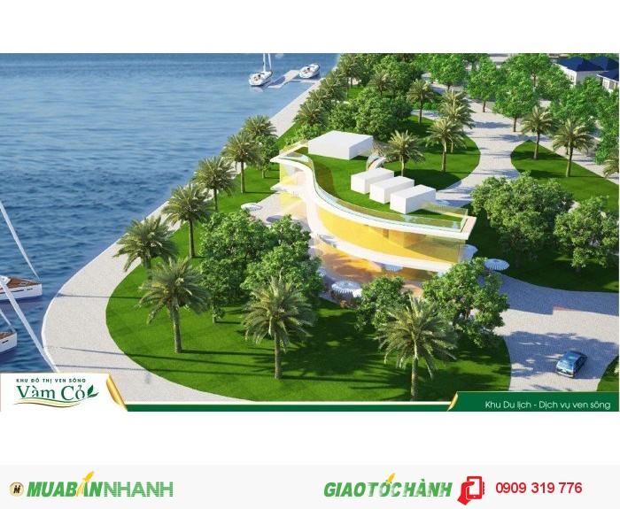 Chính thức công bố khu đô thị ven sông vàm cỏ chỉ 130 triệu sở hữu ngay 5x18m, lô góc 2MT