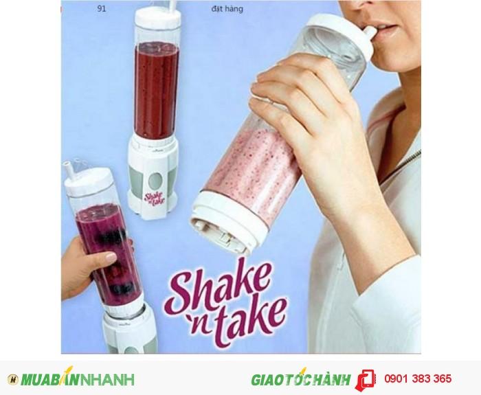 Máy xay sinh tố cầm tay 2 cốc Shake 'n Take - MSN388022