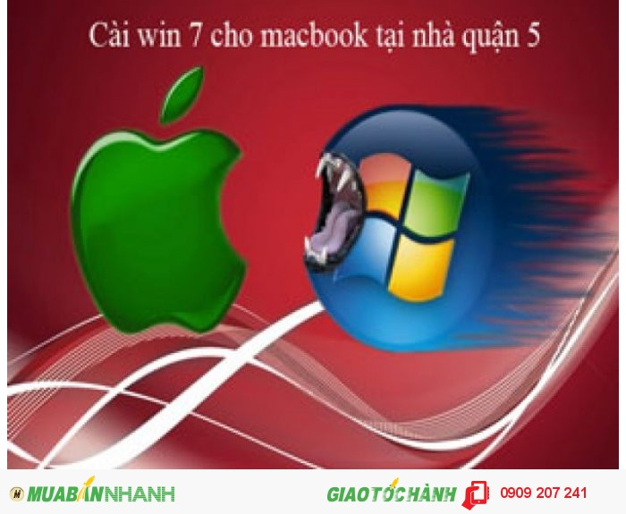 Dịch vụ cài win 7 cho macbook tại quận 5