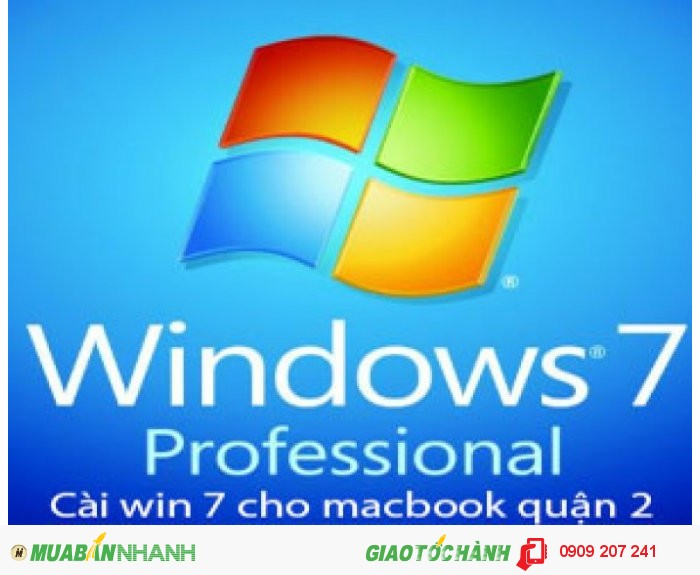 Dịch vụ cài win 7 cho macbook tại nhà ở quận 2
