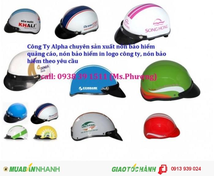 Nón bảo hiểm quảng cáo giá rẽ, xưởng nón bảo hiểm