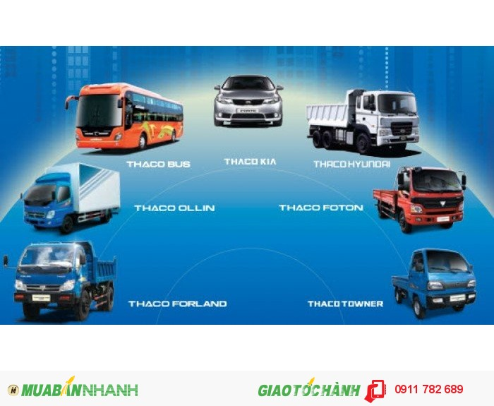 Thaco Ollin trường Hải, Ollin 500B nâng tải 5 tấn, Ollin 700B nâng tải 7 tấn, Ollin 800A nâng tải 8 tấn