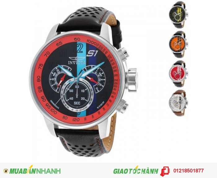 Invicta Men's S1 Rally GMT 48mm Chronograph with Leather Band Watch  Giá không bảo hành: 2....