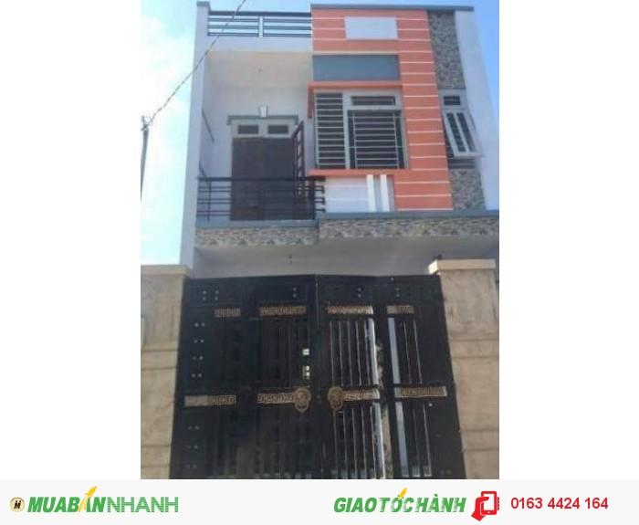Nhà mới hóc môn 1 trệt 1 lầu có sổ hồng riêng 2x12