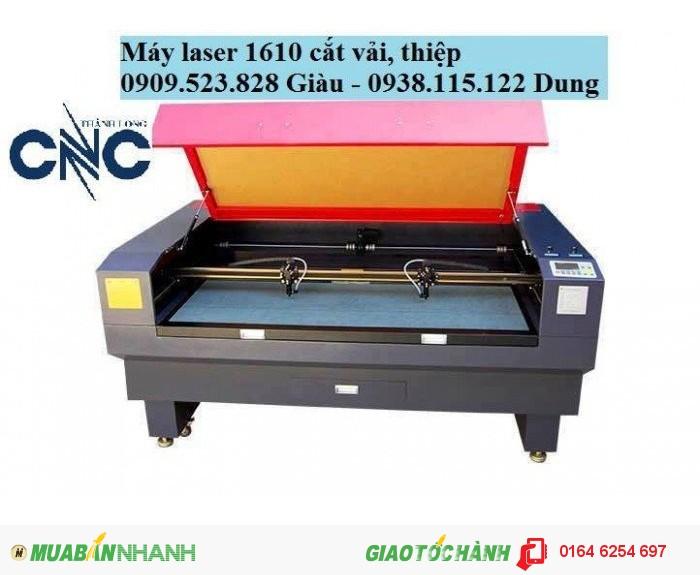 Máy Laser 1610 cắt vải tự động có đầu cuộn nhập khẩu giá rẻ
