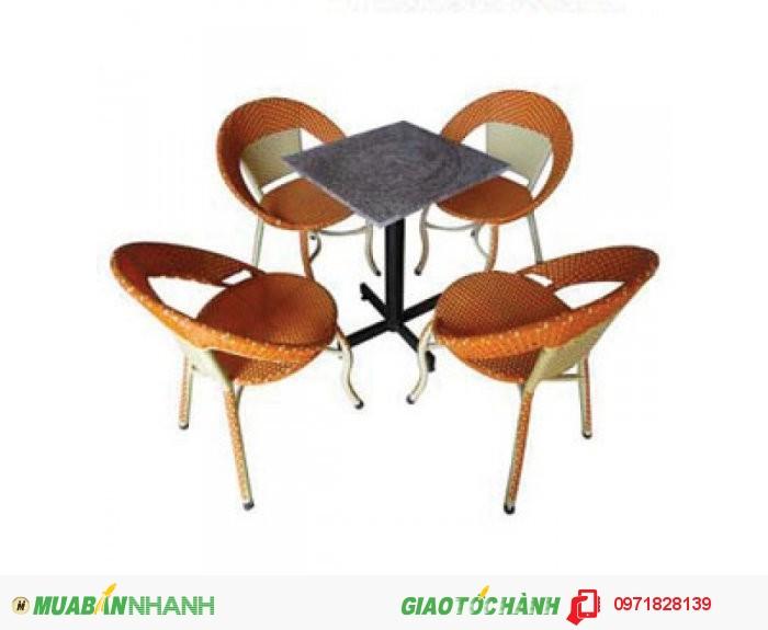 Bàn Ghế Cafe Ghế Mây Nhựa Thanh Lý Giá Rẻ2