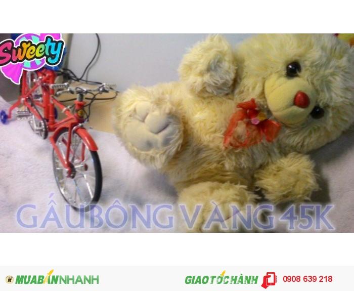 Gấu bông giá rẻ- gấu vàng cute0