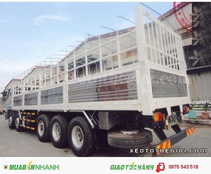 Xe tải Daewoo P9CVF 5 chân 21 tấn thùng mui bạt