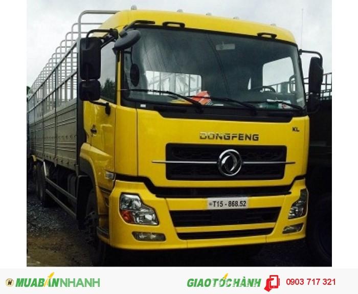 Xe tải DongFeng 3 chân/ Xe tải DongFeng C260 13 tấn thùng mui bạt Inox 2016