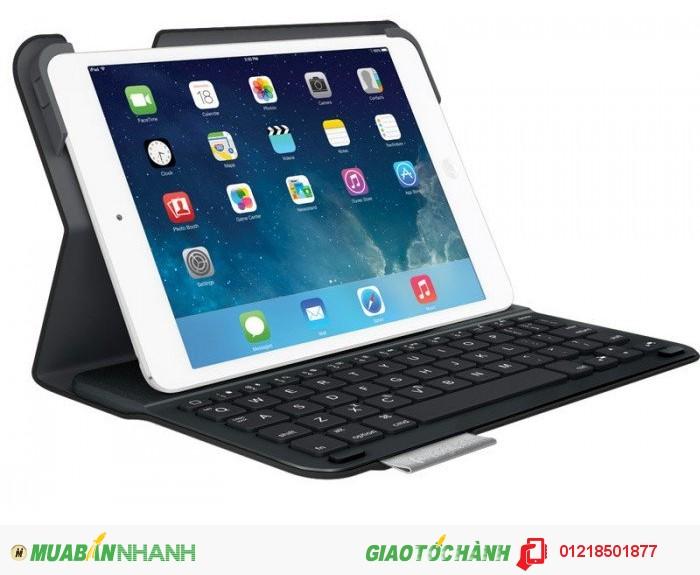 Bao da kèm bàn phím dành cho iPad Air Logitech Ultrathin Keyboard Folio, Carbon Black (Open box)  Giá bảo hành 12 tháng:  1.196.000 Đ  Xem chi tiết tại: http://www.onncom.com/bao-da-kem-ban-phim-danh-cho-ipad-air-logitech-ultrathin-keyboard-folio-carbon-black-open-box.html