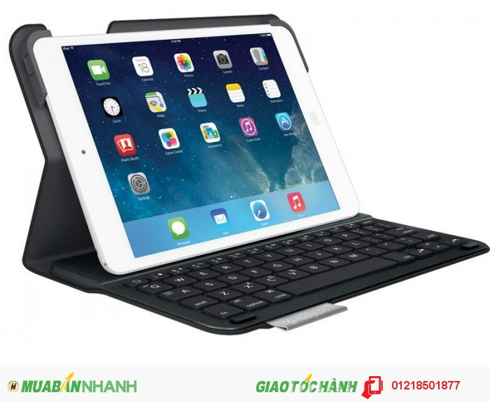 Bao da kèm bàn phím dành cho iPad Air Logitech Ultrathin Keyboard Folio, Carbon Black (Open box)...