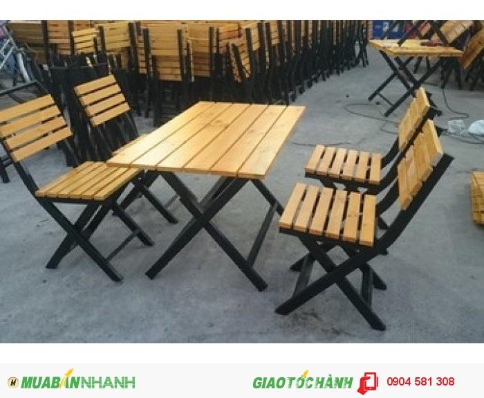 chuyên sản xuất bàn ghế gỗ quán ăn giá rẻ0